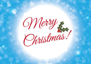 Merry Christmas Illustration - Free vector #303429