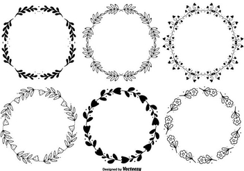 Hand Drawn Style Frame Set - Free vector #303449