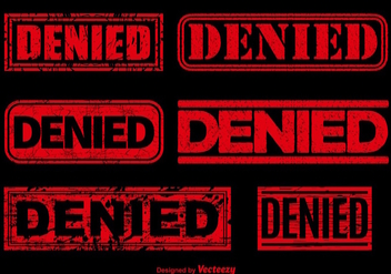 Denied red stamp vectors - бесплатный vector #303479
