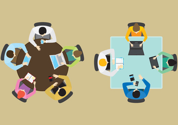Vector Office Groups From Above - Free vector #303499