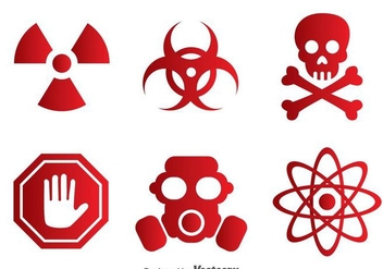 Vector Toxic Red Icons - Free vector #303559