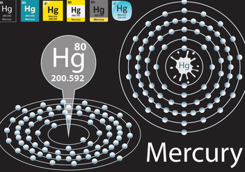 Mercury Atom Vector Graphic - Free vector #303619