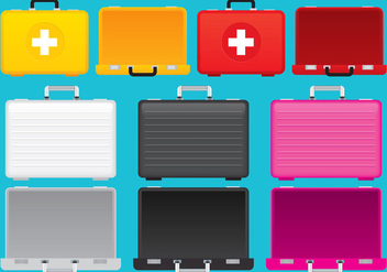 Colorful Suitcases - vector gratuit #303659