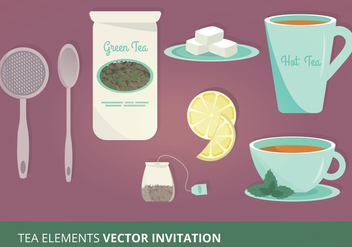 Tea Elements Vector Illustration - vector gratuit #303819