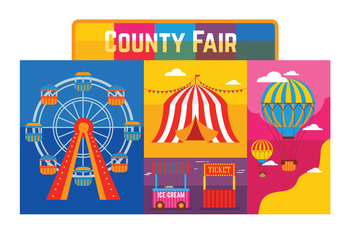County Fair Vector - бесплатный vector #303849