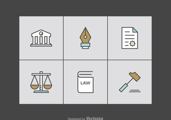 Free Law Office Line Vector Icons - Free vector #303879