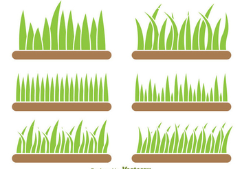 Background Of Grass Vector Set - Free vector #303899