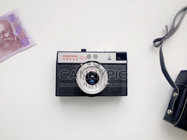 Old camera, case and money - Free image #304099