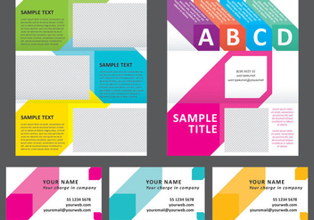 Colorful Squares Horizontal Brochure - vector gratuit #304299
