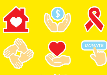 Donate Colors Icons - vector gratuit #304399