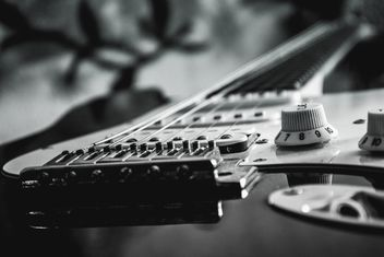 Detail of electric guitar - image gratuit #304789