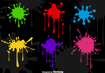 Spray paint drips - Free vector #304799