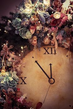 Christmas clock with Pink Accessories - бесплатный image #304849
