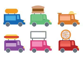 Cute Food Truck Icon Vectro - бесплатный vector #304899