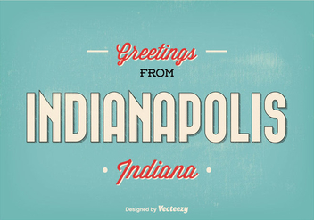 Indianapolis Retro Greeting Illustration - бесплатный vector #304929