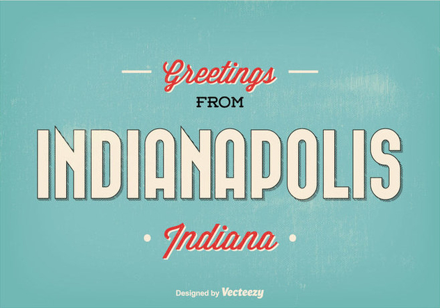 Indianapolis Retro Greeting Illustration - Free vector #304929