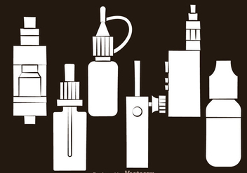 Vape White Icons - vector #304979 gratis