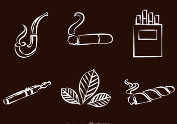 Smoking line Icons - vector gratuit #304999