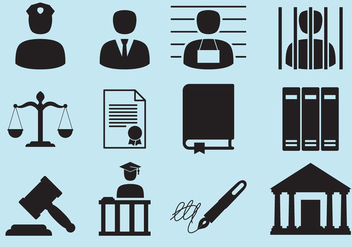 Law Icons - vector gratuit #305019