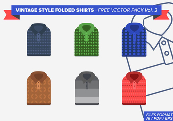 Vintage Folded Shirts Free Vector Pack Vol. 3 - бесплатный vector #305039
