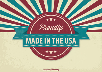 Retro Style Made in USA Illustration - Free vector #305049