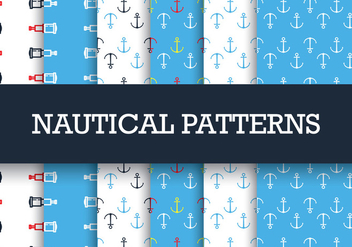 Nautical Patterns - vector gratuit #305069