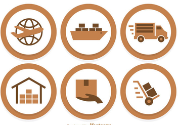 Shipping Circle Icons - Free vector #305079