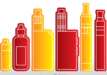 Vape Icons - Free vector #305099