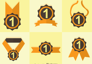 First Place Ribbon Duo Tones Icons - Kostenloses vector #305209