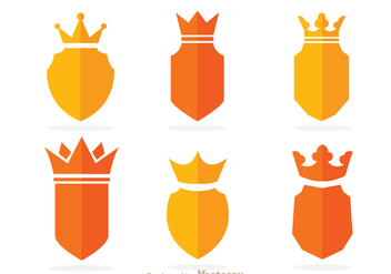 Crown And Shield Vectors - vector gratuit #305239