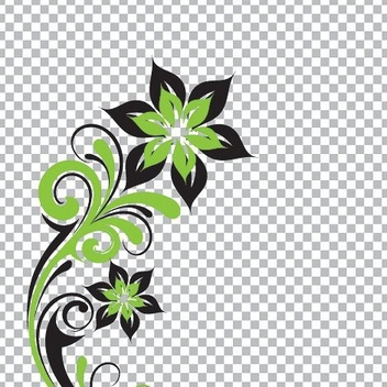 Flower Swirls on Checker Background - vector #305329 gratis