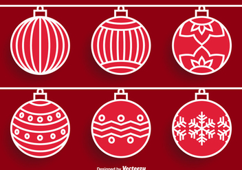 Christmas Ornament Vectors - Kostenloses vector #305509