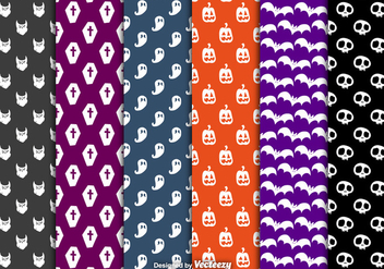 Halloween seamless patterns - Free vector #305549