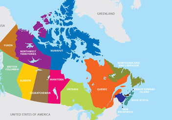 Canada Map - Free vector #305559