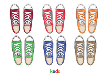 Mens keds top view - vector gratuit #305569