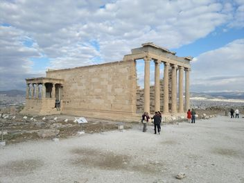 Tourists visiting Acropolis in Athens - бесплатный image #305709