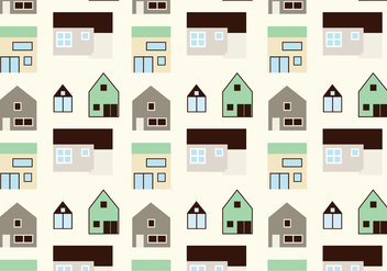 House pattern background - vector #305799 gratis