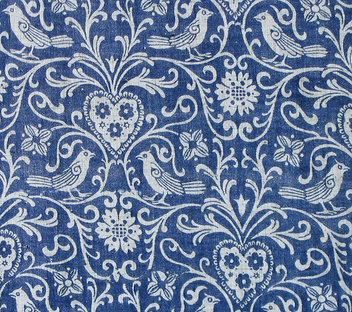 birds - tendrils - hearts - flowers {curtain pattern} - Kostenloses image #309769