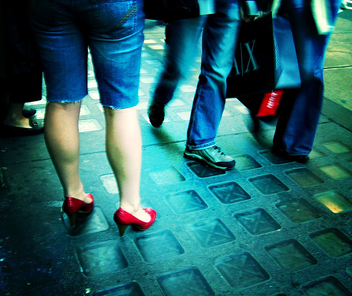 Red Shoes & Walking Bags - image gratuit #313829