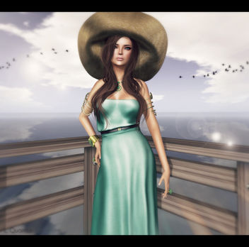 Baiastice_Hina Maxi dress-light emerald for FaMESHed & -Belleza- Ashley Summerfest SK 2 for Summerfest 13 & TRUTH HAIR Wanda - Browns01 v5 - Free image #315609