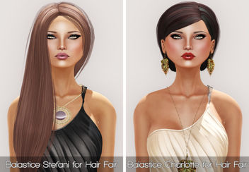 Baiastice Stefani & Charlotte for Hair Fair 2013 and PXL JADE in OLIVE and TAN - Free image #315669