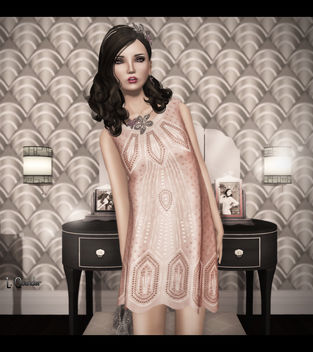 C88 August - The Secret Store - Sequined Flapper Dress V1 - Nude & PXL Vintage Kate - image #315819 gratis