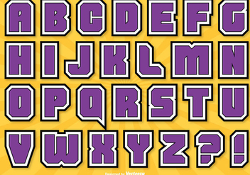 Comic Style Alphabet Set - vector #317469 gratis