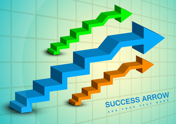 Success business arrow vector graphic - vector gratuit #317529