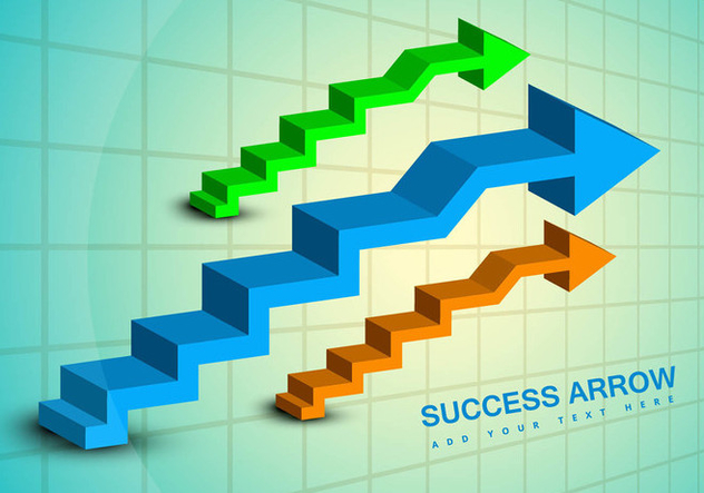 Success business arrow vector graphic - Free vector #317529