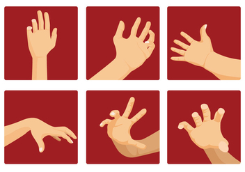 Hand reaching vector - Free vector #317549