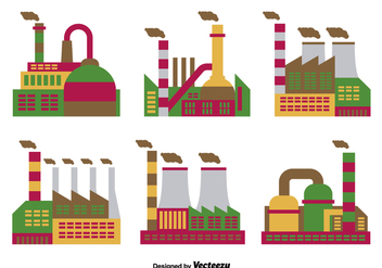 Factory flat icons - Free vector #317589