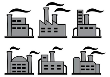 Factory icons vectors - Free vector #317599