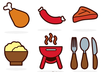 Food Color Vectors - vector #317629 gratis