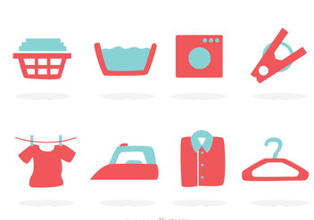 Laundry Icons - Free vector #317649